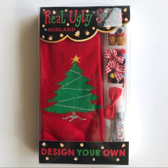 🆕 NIB Soxland Design Your Own Ugly Socks Kit NWT